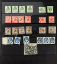 GB - GV 1929 PUC selection inc £1 black um VGC, plus halfpenny to one halfpenny x4 plus one each