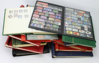 GB - heavy box with various albums / stockbooks, essentially QE2 with many 1960's sets in blocks and
