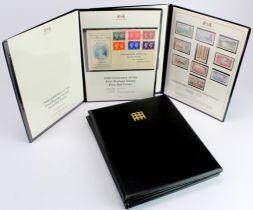 GB - KGVI in Westminster + Harrington & Byrne folders inc 1948 £1 Silver Wedding cylinder block of