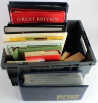GB - basic accumulation in various stockbooks and albums, two being um late 1960's/70's
