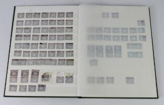 GB - duplicated used Postage Due collection in green stockbook, identified by value only and not