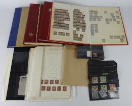 GB - carton inc Stockbook with line-engraved, mixed condition inc approx 200 imperf 1d red, and some