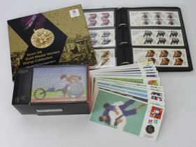 GB - 2012 Olympic Games stamps and special Coin Covers. Including London 2012 Team GB Gold Medal