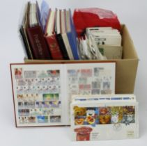 GB - box of material with main value in modern decimal stamps, booklets and m/sheets. FV approx £