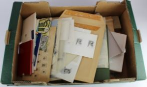 Original stamp designers archive, vended by decent - the artistic workings an designs of S. Scott
