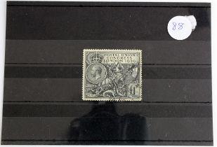 GB - GV 1929 PUC £1 black, SG 438, fine used, cat £550