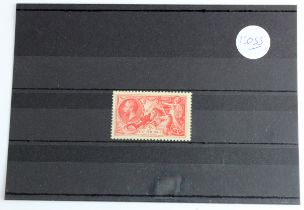 GB - 1918-19 Bradbury 5s rose red, fine mint, lightly hinged, SG416, cat £325