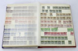 GB - large red stockbook of mint, UM and commonly used KGVI to early QE2 Wildings. Fair range of