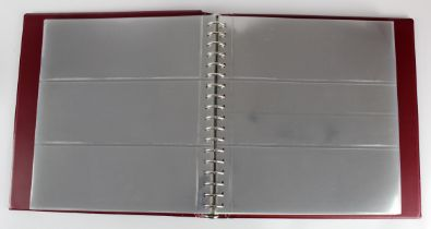 Albums, Banknote albums (5), Lindner albums full of plastic sleeves plus a bundle of approx 100