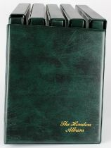 Albums, Hendon banknote albums (6) with slip cases, no plastic sleeves, Green finish, used but