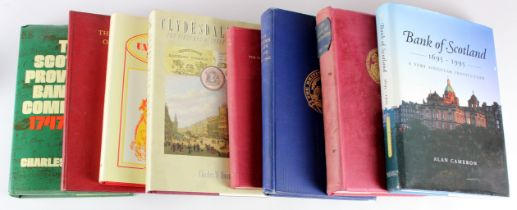 Books, Scotland (8) - a range of Banking history/reference books, Bank of Scotland 1695 - 1945 by