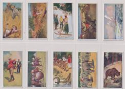 Trade cards, Almond's Bread, Sports & Pastimes, (set, 25 cards) (mostly vg)