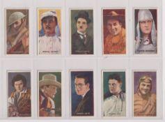 Trade cards, Amalgamated Press, Famous Film Stars, (set, 16 cards) inc. Charlie Chaplin, Harold