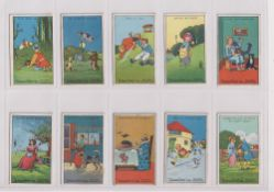 Trade cards, Typhoo, Nursery Rhymes (set, 10 cards) (mostly gd)