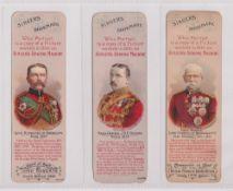 Trade cards, Singer, Bookmarks, Boer War Generals, three bookmarks, Lord Kitchener of Khartoum,