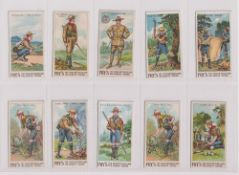 Trade cards, Fry's, Scout Series (20/50, mixed printings), nos 3, 4, 9, 14, 18 (x2, different),