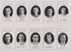 Cigarette cards, Taddy, Prominent Footballers (London Mixture), Crystal Palace (set, 15 cards) (
