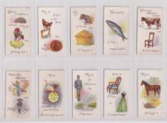 Trade cards, Typhoo, Conundrums, (set, 25 cards) (some sl marks gen gd)