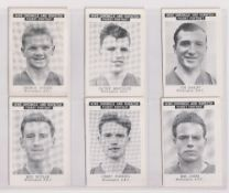 Trade cards, News Chronicle, Footballers, Workington, two sets with different printings, one '