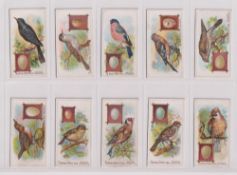 Trade cards, Typhoo, British Birds & their Eggs, (24 cards) (some sl marks gen gd)