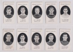 Cigarette cards, Taddy, Prominent Footballers (London Mixture), Bristol City (set, 15 cards) (2 with