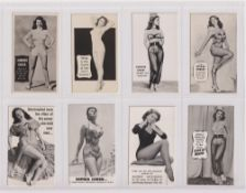 Trade cards, Tit-Bits, Star Cover Girls, 14 different plus one variation card, sold with Empire News