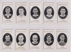 Cigarette cards, Taddy, Prominent Footballers (London Mixture), Woolwich Arsenal (set, 10 cards) (