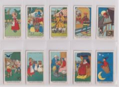 Trade cards, Fry's, Nursery Rhymes (set, 50 cards) (some light foxing to a few backs o/w good)