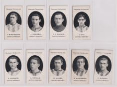 Cigarette cards, Taddy, Prominent Footballers (London Mixture), Sheffield Wednesday, 9 cards, J.