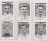 Trade cards, News Chronicle, Footballers, Preston North End, two sets with different printings,