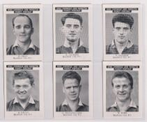 Trade cards, News Chronicle, Footballers, Bradford City, two sets with different printings, one with