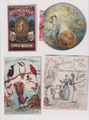 Trade cards, Singer, a fine collection of 10 advertising cards & mini booklets, various shapes &