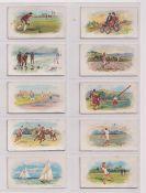 Trade cards, English & Scottish CWS, British Sports Series (23/50) nos 5, 17, 20, 22, 23, 24, 29,