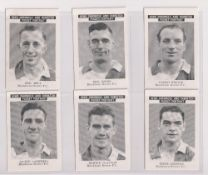 Trade cards, News Chronicle, Footballers, Blackburn Rovers, two sets with different printings,