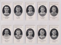 Cigarette cards, Taddy, Prominent Footballers (London Mixture), Chelsea 10 cards, W. Bridgman, H.
