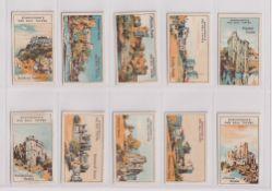 Trade cards, Edmondson, Famous Castles, (set, 20 cards) (gd/vg)