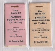 Trade cards, Sunday Empire News, two booklets as issued, each containing 8 cards from the Famous