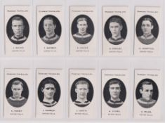 Cigarette cards, Taddy, Prominent Footballers (London Mixture), Aston Villa (set of 15 cards) (
