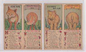 Trade cards, USA, J & P Coats (Clark's Spool Cotton), John Martin's Spool Zoo (set, 6 cards), sold