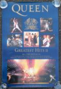 Music Posters, 6 posters comprising 3 1991 advertising posters for Queen Greatest Hits II offering