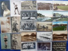 Postcards, a mixed Sporting collection of approx. 850 cards inc. Rugby, rowing, shooting, bowls,