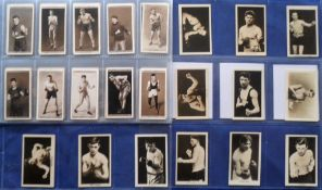 Cigarette & trade cards, Boxing, two sets, Ogden's, Pugilists in Action (50 cards, gd) & Boys Friend
