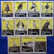 Olympics, Berlin, 1936, a collection of 11 small format guide books, mostly 32 pages & issued for