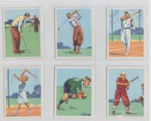 Cigarette cards, UTC (South Africa), Sports & Pastimes in South Africa, 'L' size inc. Golf,
