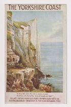 Postcard, North Eastern Railway poster advert No.14 Yorkshire Cliffs (vg) (1)