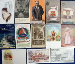 Postcards, Advertising, inc. Fitzall Fashions, Hotels, Monks Stone, Bazaar Exchange, Achille of