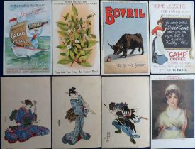 Postcards, Advertising, Beverages, Camp Coffee (2), Co-op, Bovril, Nectar, G.P., Horniman's etc. (