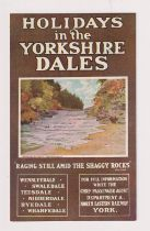 Postcard, North Eastern Railway poster advert No.9 Aysgarth Falls (vg) (1)