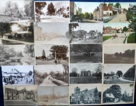 Postcards, Hertfordshire, a good collection of approx. 80 cards with RP's of Great Hormead,