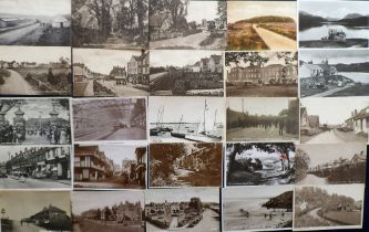 Postcards, a UK topographical mix of approx. 57 cards with many street scenes. RP's inc. Sandy Point